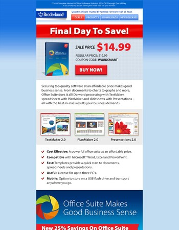Office Productivity Software 25% Savings Closing In