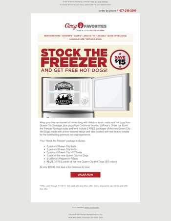 Stock the Freezer with Cincy Favorites!