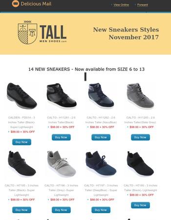 TallMenShoes.com Newsletter