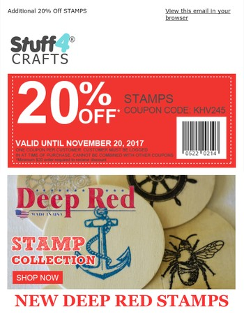 New Deep Red Stamps