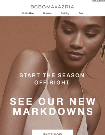 The holidays came a bit easy - shop NEW markdowns