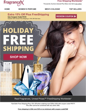 Free Shipping, Save 20-60% During Our Pre-Holiday Sale