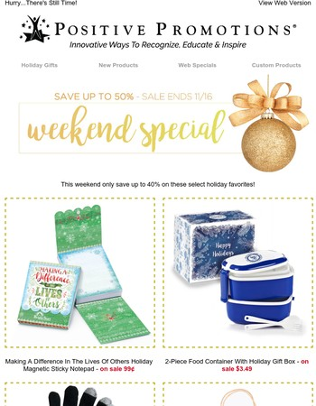 Last Chance! Weekend Special - Save Up to 50%