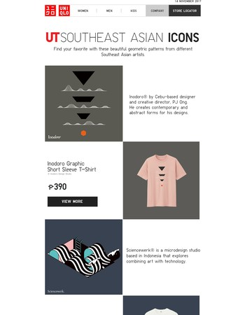 Exclusive ASEAN designs now on UT Shirts