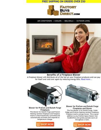 Benefits of a Fireplace Blower