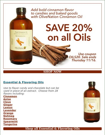48 Oils for baking, flavoring & grilling-Save 20%