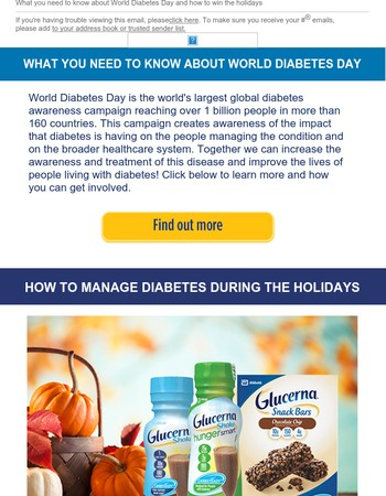 World Diabetes Day and the Holidays