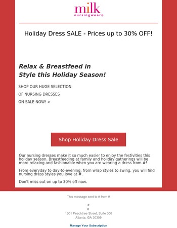 Holiday Dress Sale Up to 30% Off