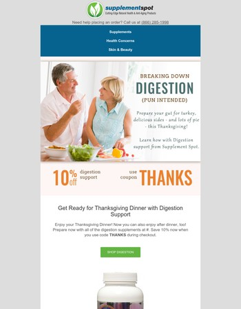 Save on Digestion Support for the Holidays