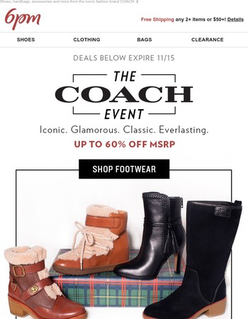 The Coach Event Starts Now (Up to 60% Off)