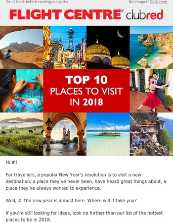 Plan to visit a new destination in 2018, Mary?