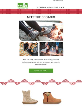 Meet the Bootahs! Warm, cuddly and always a little cheeky.