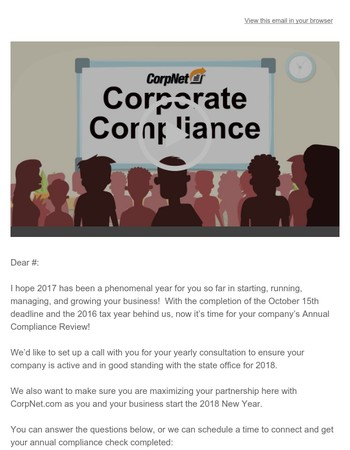 It's Time for Your Annual Business Compliance Review