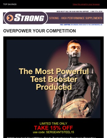 THE MOST POWERFUL TEST BOOSTER AVAILABLE , WITH 16 PERFECTLY DOSED COMPOUNDS + ONE SICK MUSCLE PUMP + NO. 1 PREWORKOUT