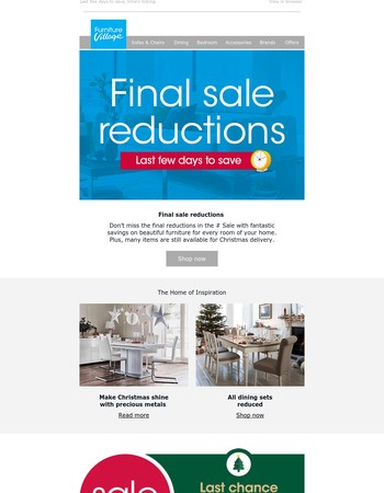 It's final reductions time