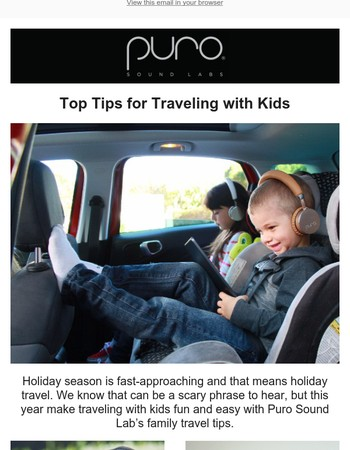 Holiday Travel Season Is Coming...