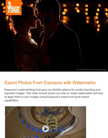 Alien Skin News - Learn to use Exposure's export watermarks feature