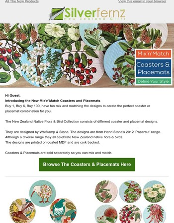 Create Your Own Style with Pick'n'Mix Coasters & Placemats