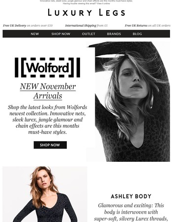 Be the first to shop New Wolford Arrivals!