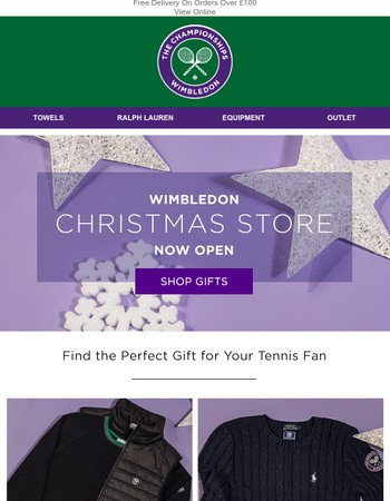 The Wimbledon Online Christmas Store is Open!