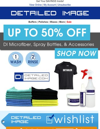 Up To 50% Off Microfiber & Much More!