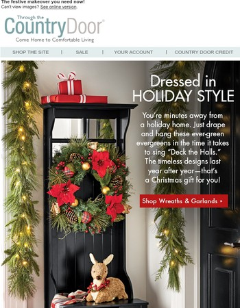 Holiday Must-Have: Wreaths & Garlands