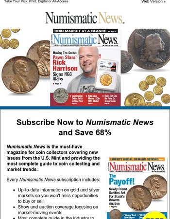 Numismatic News: Get 68% Off Today!