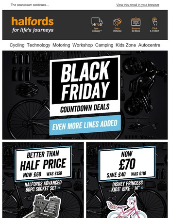 Black Friday Countdown Deals... Even more lines added!