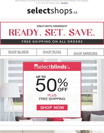 Select Blinds Canada Newsletter