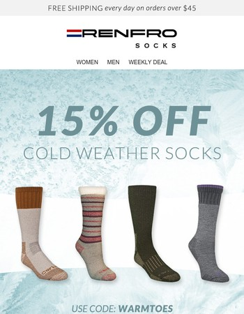Keep Toes Warm Even As The Temperature Drops!