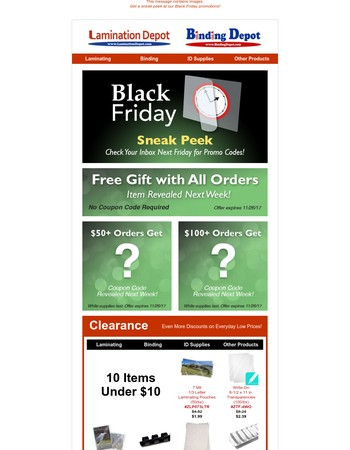 Sneak Peek at Our Black Friday 2017 Promotions