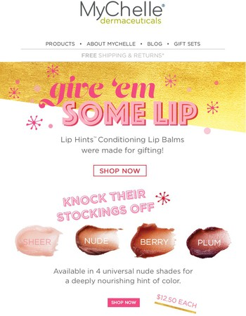 Made for Gifting: Lip Hints™ Conditioning Lip Balm