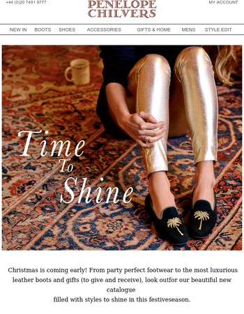 Time To Shine | New Christmas Catalogue Out Now