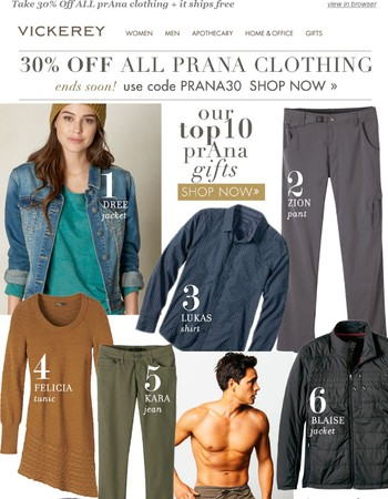 Our Top 10 prAna Gifts (30% Off All prAna)!