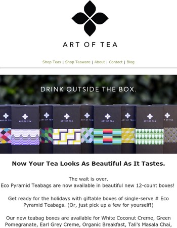 New Product Alert! Unwrap Something Great from Art of Tea...