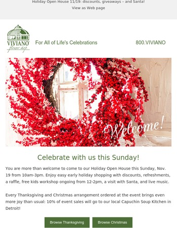 Holiday Open House 11/19: discounts, giveaways - and Santa!