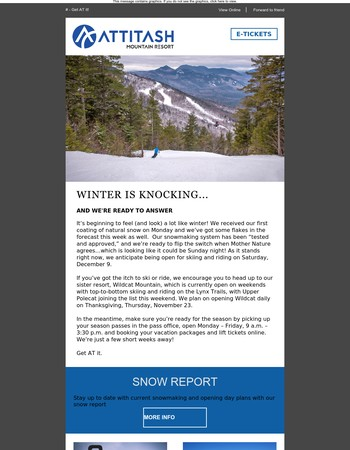 Snow and Snowmaking in the Forecast