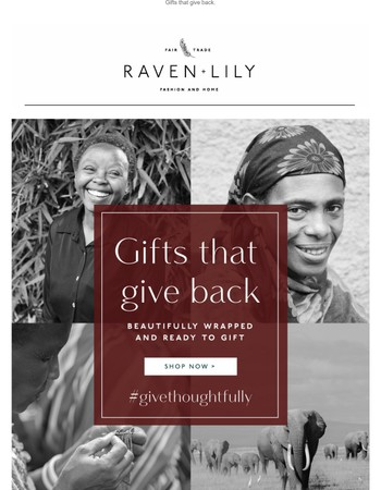GIVE MORE THAN A GIFT