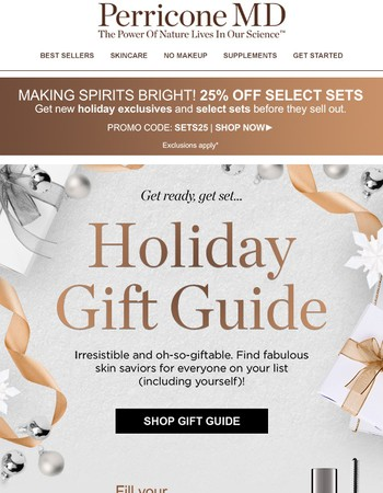 One for them, two for you... Holiday Gift Guide!