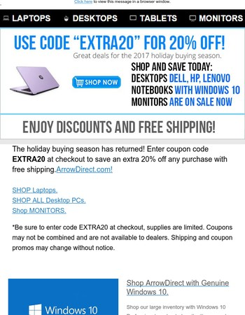 Take an Extra 20% off of Notebooks & more: Coupon within!