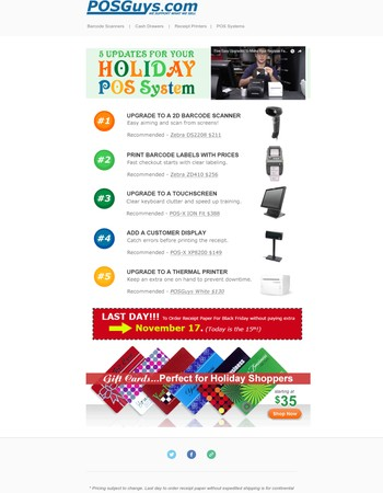 5 Updates For Your Holiday POS System