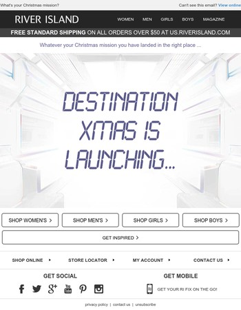 You've landed at Destination Xmas!
