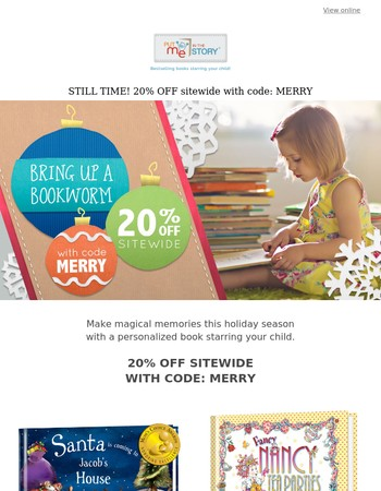 STILL TIME - 20% off bestselling books starring your child!