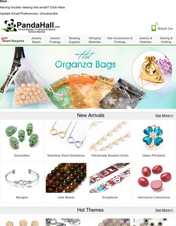 Hot Organza Bags--packing your creative idea