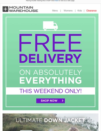 Free Delivery On Absolutely Everything  | This Weekend Only