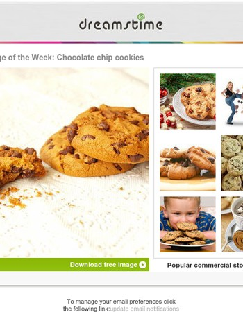 Free image of the week: Chocolate chip  cookies