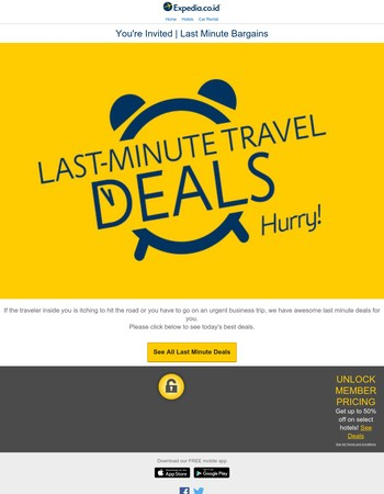 :) GOOD NEWS, Last Minute Deals are available for you