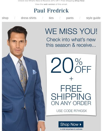 Here's A 20% Off Coupon- Just For You