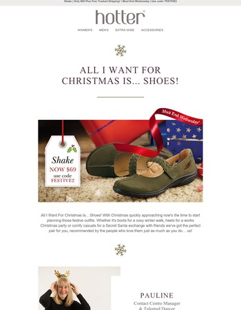 All I Want For Christmas Is... Shoes | Plus A Special Offer On Your Hotter Favorite