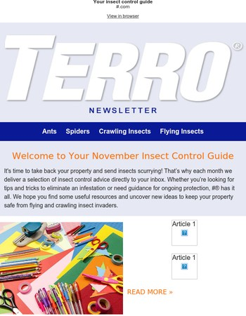 Your November Newsletter has Arrived!